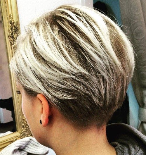 """Long Blonde Balayage Pixie. Article says this is """"razored."""""""