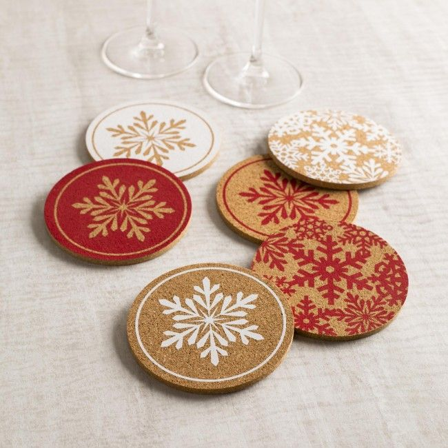 The Christmas Cork Coasters are the perfect home for your mug of hot coco as you hide from the cold this season.