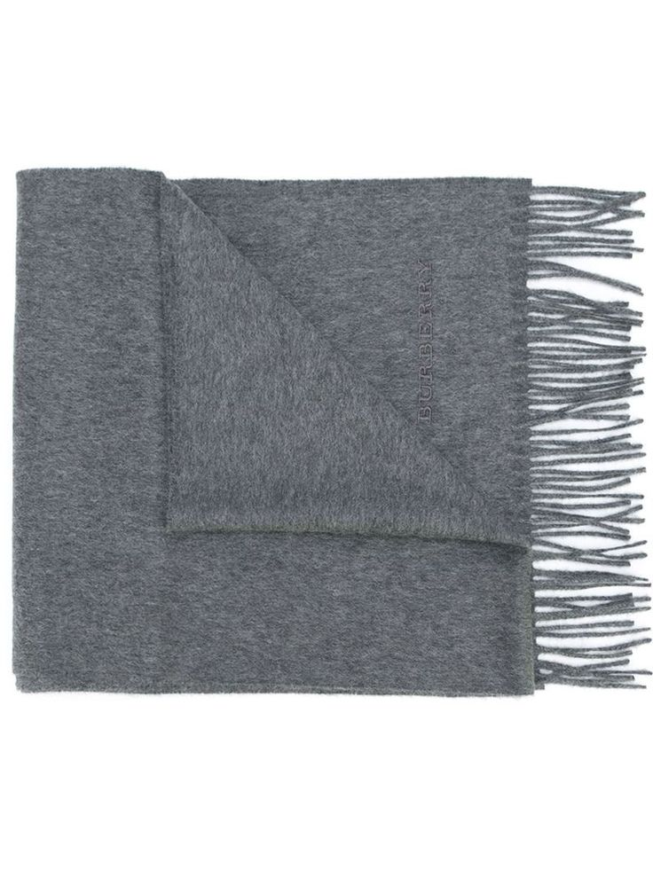 BURBERRY FRINGED SCARF