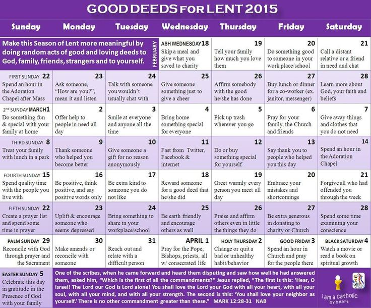 Things to do for lent