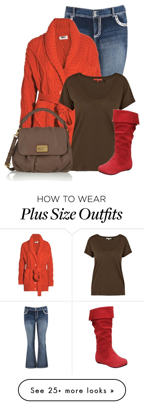 """""""Untitled #13151"""" by nanette-253 on Polyvore featuring maurices, MM6 Maison Margiela, Helmut Lang and Marc by Marc Jacobs"""