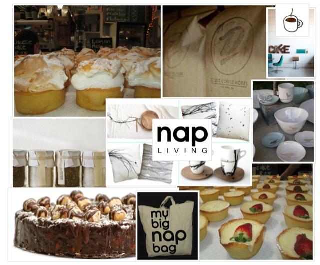 Nap + Deluxe  Nap Cafe has collaborated with the best coffee in cape town  Deluxe Coffee works to bring you Nap + Deluxe.  You are able to select your blend and take home your own to brew at your leisure and of course return for your next weeks' supply of your favourite coffee.  Also at the Nap Cafe, yummy bespoke Cut and Bake cookies baked on the premises for you to select your favourite toppings and take home your designer cookies.