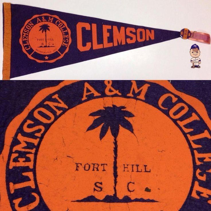 Mejores 499 imágenes de Vintage Clemson en Pinterest | Banderas