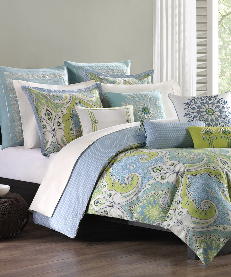 Look At This Periwinkle Amp Green Mediterranean Duvet Cover