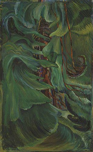 Cedar, 1942, huile sur toile  - Emily Carr (Canadian, 1871-1945)
