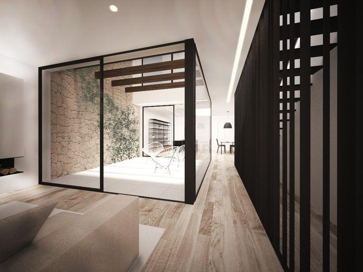 Calaiaia - Chiralt Arquitectos Valencia Casa de pueblo reformada. Minimalista y moderna con un patio que la ilumina.