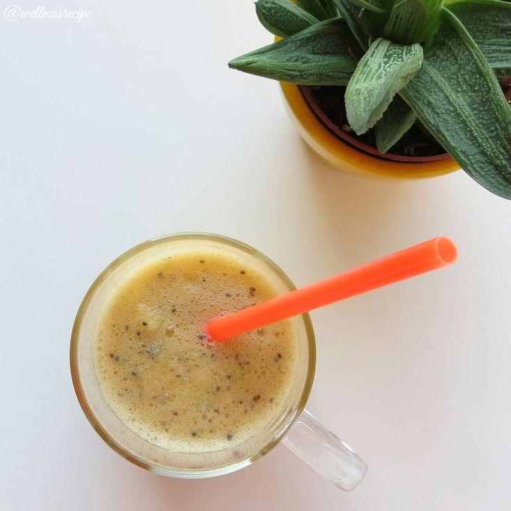 Bu haftanın smoothiesi 🍏 1 #yeşilelma 1 #mandalina , yarım #limon 1 çk #chiatohumu , bir miktar su. Arzu ederseniz bal da ekleyebilirsiniz. Siz de sağlıklı #smoothie tariflerinizi #wellnessrecipe ve #mondaysmoothie etiketleri ile paylaşın. This...