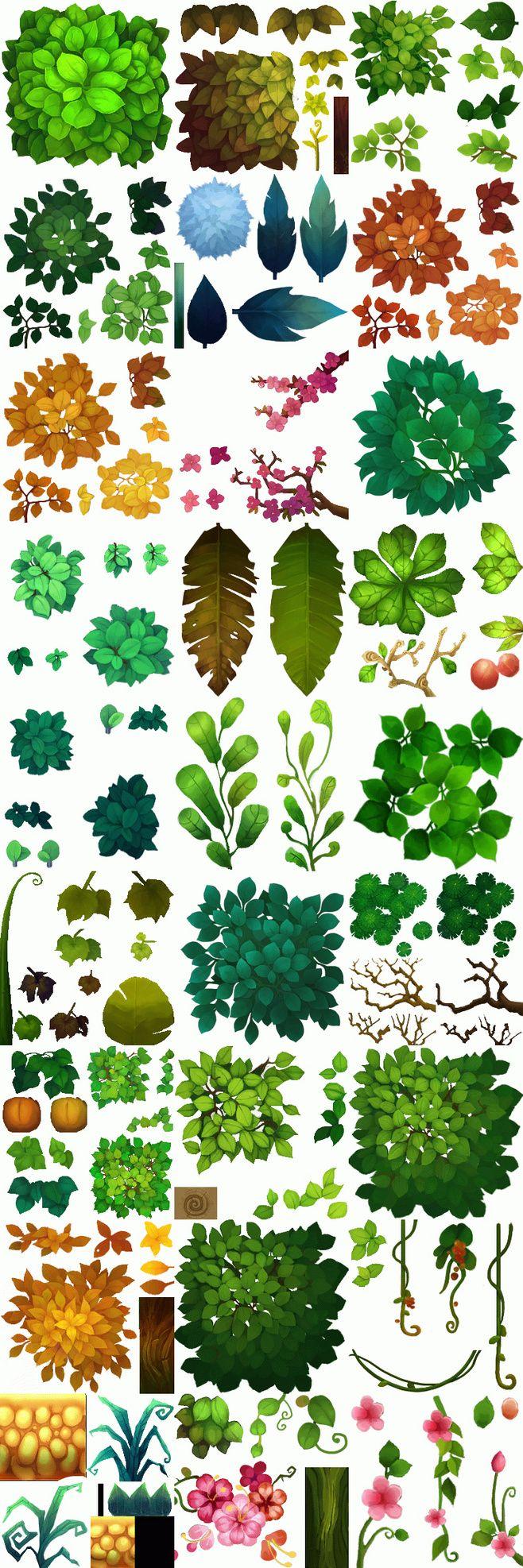 В версии текстуры мультфильм растений