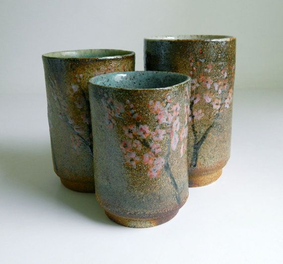 Wood fired hand-painted cups. LOVE these!Ceramic, Cups Woodfire