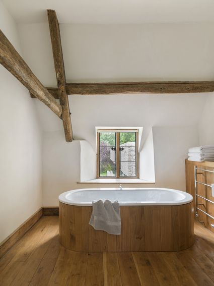 I love this bathroom - simple, and full of beautiful textures. Found Associates