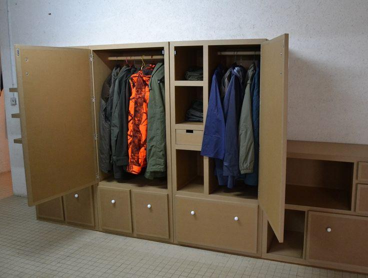 87 best rangements en carton images on pinterest. Black Bedroom Furniture Sets. Home Design Ideas