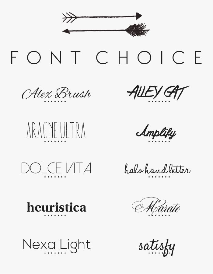 Looking for fonts for the wedding menu
