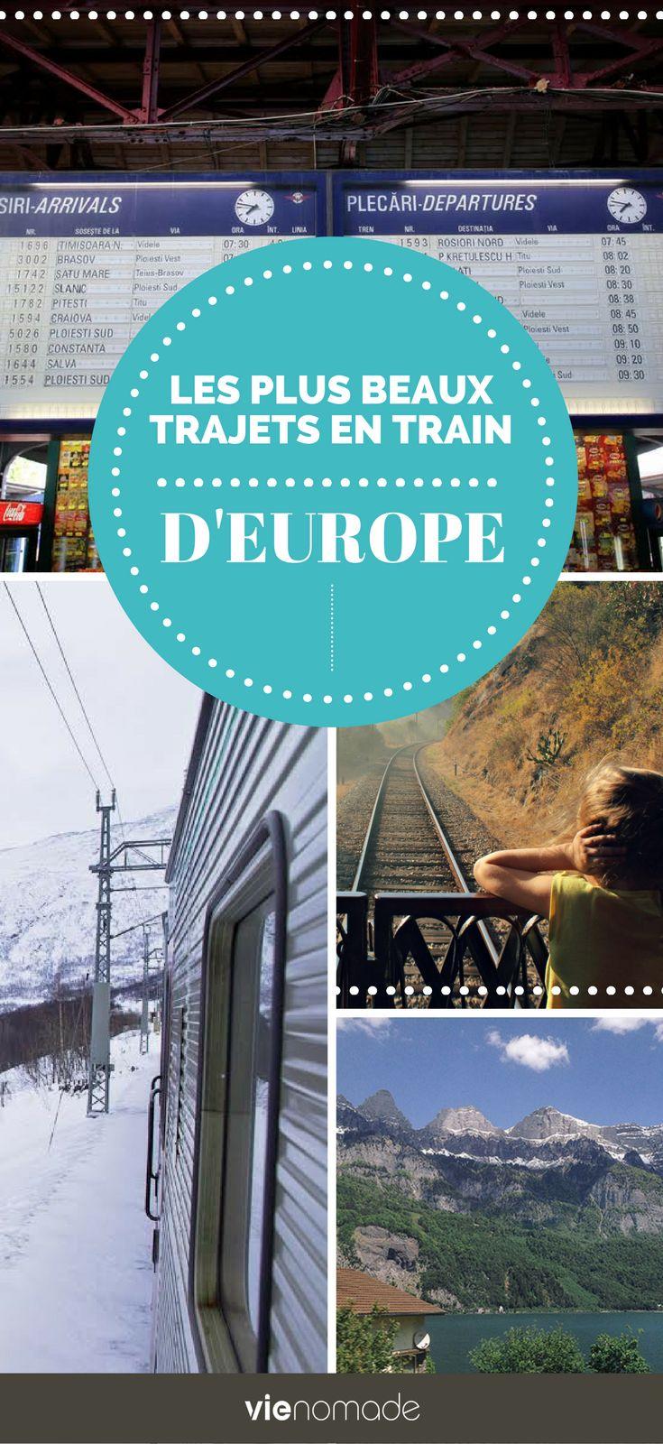 EUROPE : trajets en train