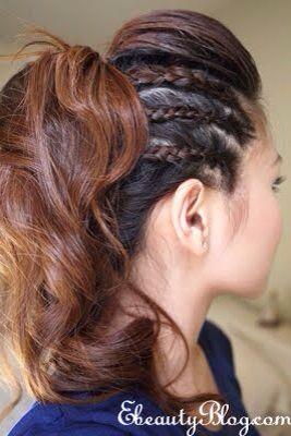 High volume braided ponytail