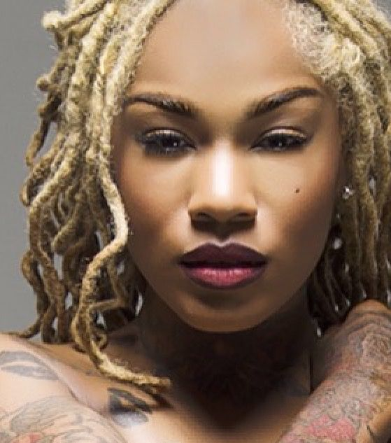 If my Locs were thicker, I'd love to style them like this with a loose curl. Simple and gorgeous.
