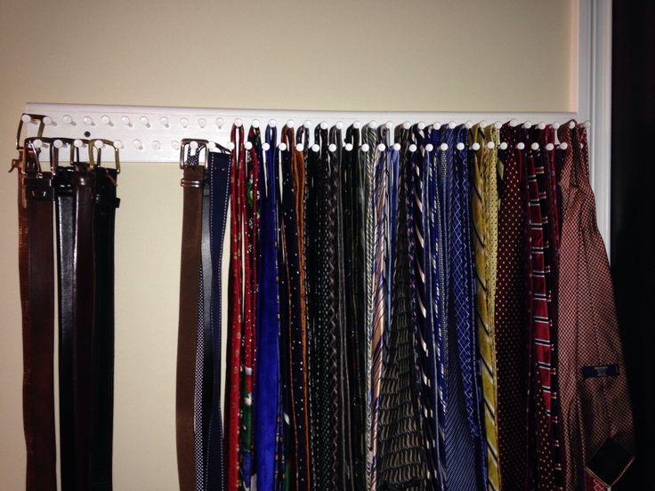 25 best Tie rack ideas on Pinterest Diy cabinet door storage