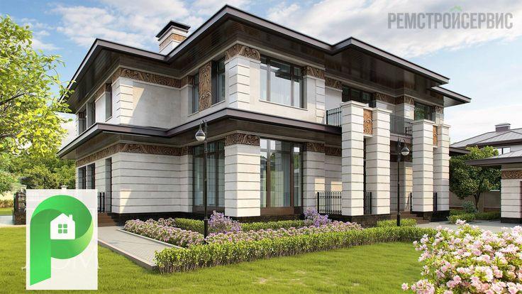 Двухэтажный дом в стиле прерий http://www.hmkmos.ru/dom_v_stile_frenka_lloyda_rayta.html