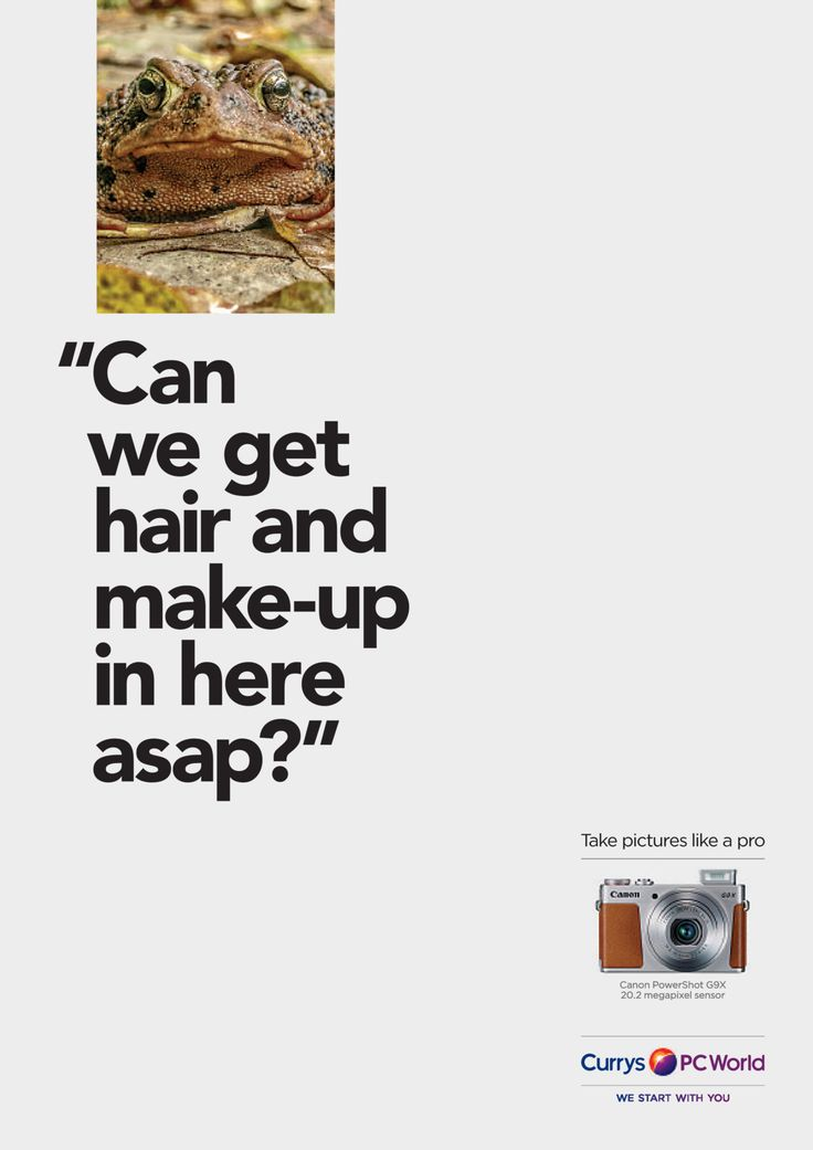 Read more: https://www.luerzersarchive.com/en/magazine/print-detail/currys-pc-world-60757.html Currys PC World Campaign for cameras available at UK electronics retailer Currys PC World. Tags: Abbott Mead Vickers (AMV) BBDO, London,Adrian Rossi,Alex Grieve,Zac Ellis,Currys PC World,Richard Littler