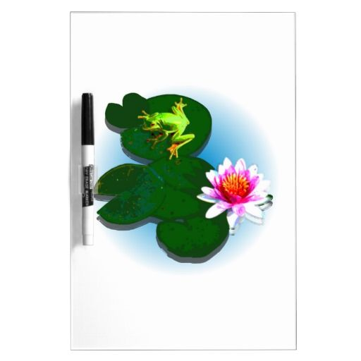 Frog On A Lily Pad Dry Erase Board Dry Erase Boards - This dry erase board features a frog on a lily pad with a light blue fading water background. Change the background colour and add your own text to get it just the way you like it! http://www.zazzle.com.au/frog_on_a_lily_pad_dry_erase_board_dryeraseboard-256064829207160717?rf=238523064604734277