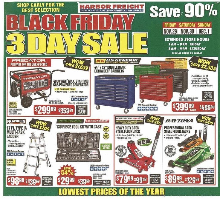 Harbor Freight Black Friday 2019 Black