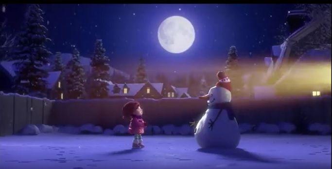 聖夜は大切な人と過ごそう。米シネコンのXマス動画『少女と雪だるまの友情物語』 | AdGang