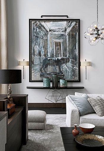 Muted luxuryModern Interiors Design, Living Rooms, Home Interiors, Contemporary Interiors Design, Consoles Tables, Livingroom, Lindsey Adelman, Kate Hume, Apartments Design