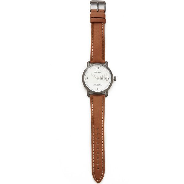 Jack Spade Buckner 42mm Watch (8 400 UAH) ❤ liked on Polyvore featuring jewelry, watches, accessories and jack spade