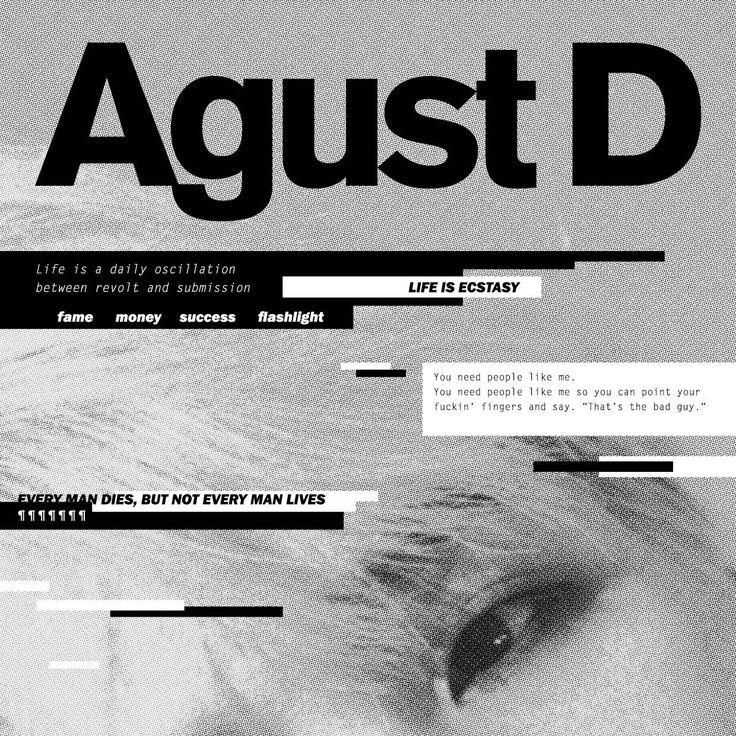 "berry852: "" Agust D Album Cover "" kpop, album cover, editorial, graphic design, photography"