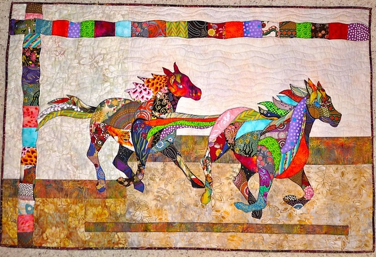 horse quilt by Feeling Simply Quilty