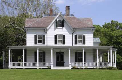 farmhouse plans with wrap around porch | Farm House Porches | Country Porches | Wrap Around Porches
