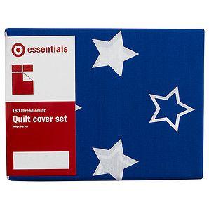 Star Quilt Cover Set - Blue | Target Australia