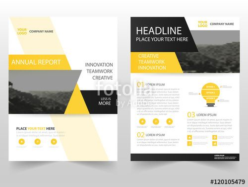 Vecteur : Yellow black triangle Vector business proposal Leaflet Brochure Flyer…