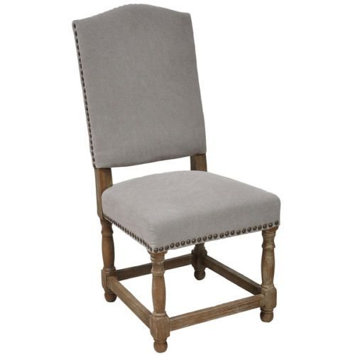 Redford Stone Wash Light Grey Finish New Dining Room Furniture Side Accent Chair $2,233.57