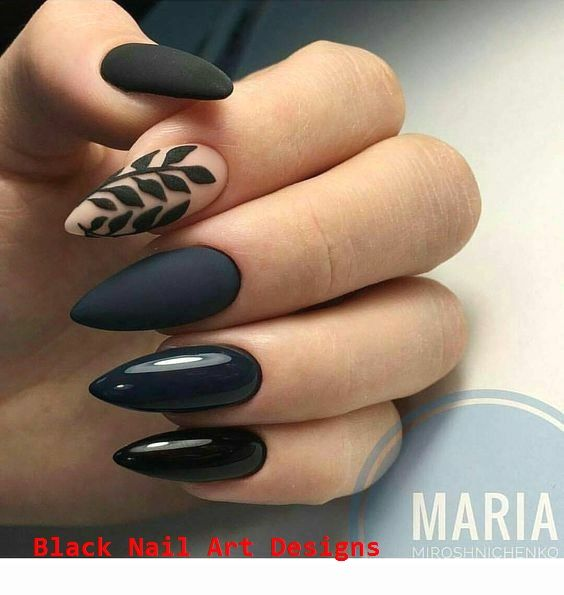 Nails designs that you might want to try   – Black Nail Art Ideas