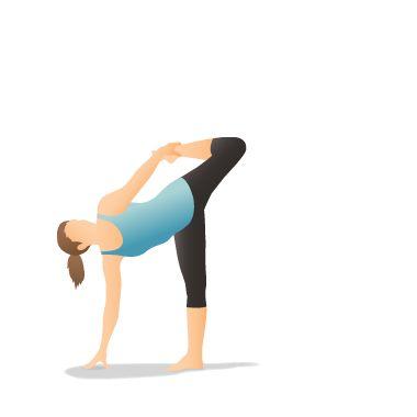 yoga pose bound half moon sugarcane baddha ardha