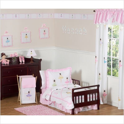What an adorable idea for a little girls room!  I hope they have this in twin size.