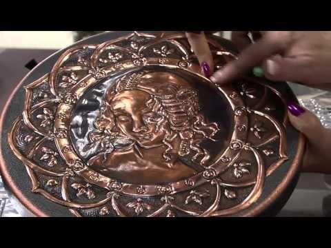 Mulher.com 02/10/2013 - Latonagem com Stencil - Lu Heringer - - YouTube