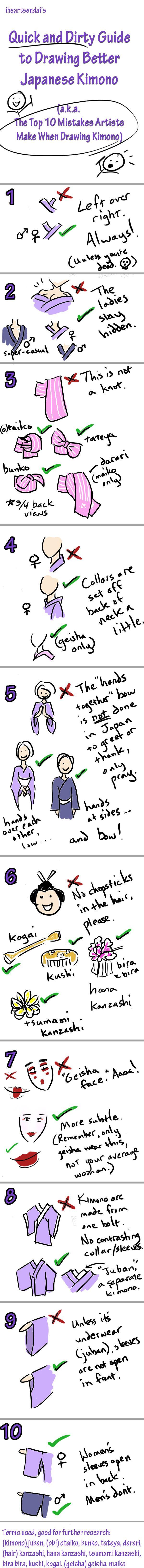 Tutorial: Draw Better Kimono by iheartsendai.deviantart.com on @deviantART
