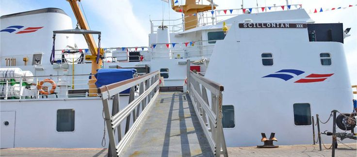 The Scillonian III is a scheduled passenger ferry that sails between Penzance Harbour and St Mary's, Scilly Isles, on a daily basis taking 2hrs 40 mins.