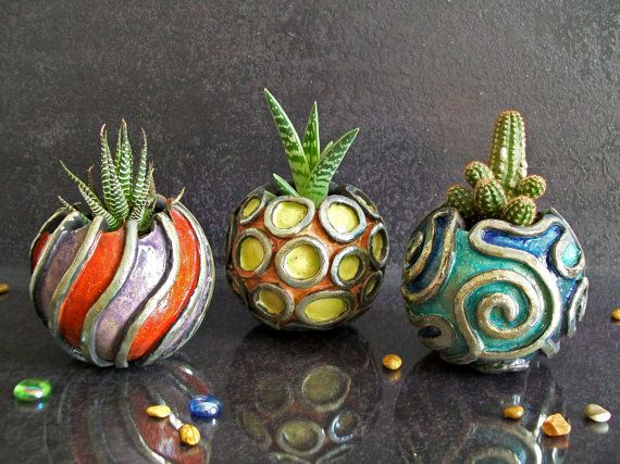 Hey, I found this really awesome Etsy listing at https://www.etsy.com/listing/232210595/ceramic-raku-planter-for-flower-and