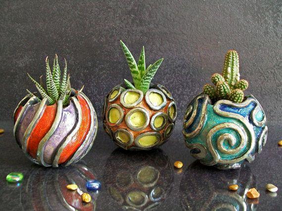 planter pot ceramic succulent pot beach home decor little planter pot flower pot