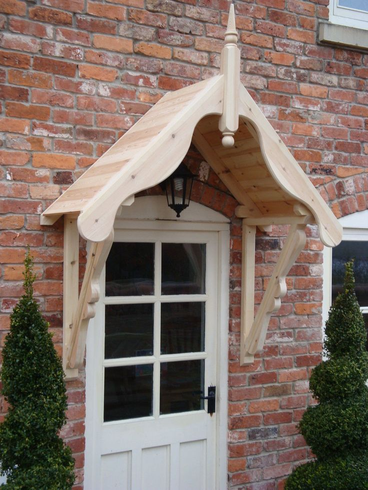 """Timber Front Door Canopy Porch 1050mm """"LUDLOW""""gallows brackets canopy FOR SALE • £235.00 • See Photos! Money Back Guarantee. Hand Made Timber Door Canopy 'Ludlow' design with Scrolled brackets The canopy comes as built sections, from quality redwood timber, ready for you to paint or stain, comprising: - -1 160992921766"""