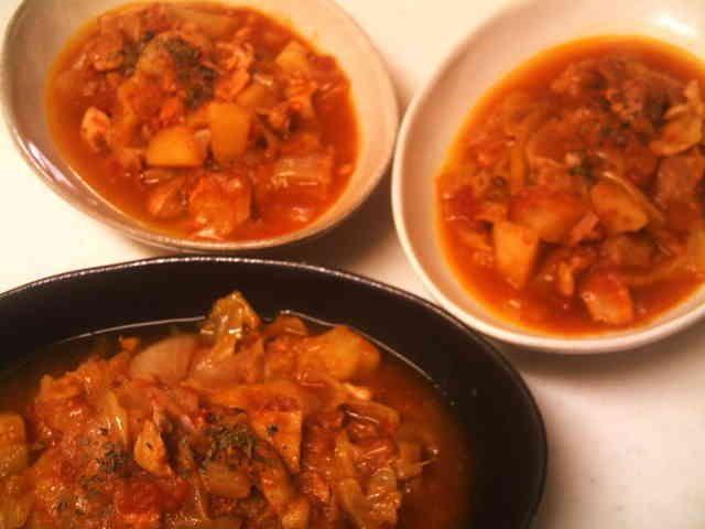 スロークッカーで簡単☆鶏肉野菜のトマト煮の画像