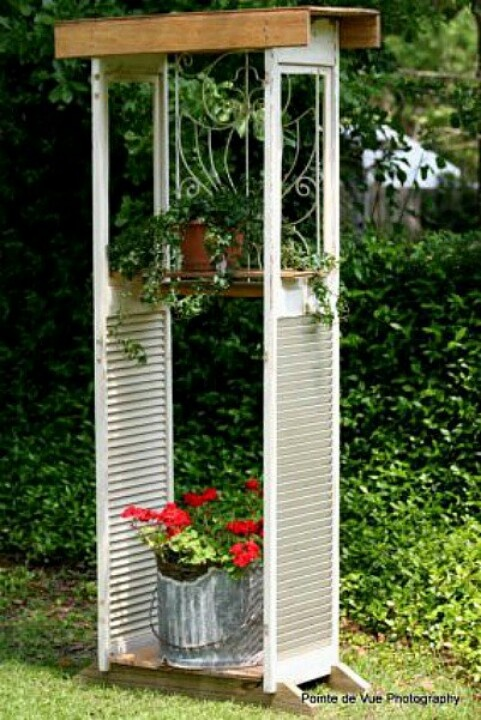Shutters Repurposed Outdoors