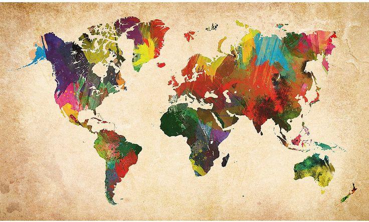 Eine Weltkarte in allen Farben der Welt. Ein Deco Block ist ein hochwertiges Fertigbild für ihr Zuhause, ihre Geschäftsräume oder zum Verschenken. Das Motiv wird in einem Vierfarb-Offsetdruckverfahren gedruckt. Extra gestrichenes Glanzpapier garantiert eine gleichbleibend hohe Qualität bei tiefer Farbwiedergabe und satter Farbbrillanz. Der fertige Druck wird auf eine MDF Platte aufgebracht, w...