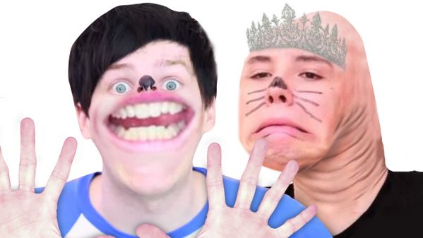 Let's all appreciate this picture Pewdiepie photo shopped of Dan and Phil.
