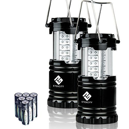 News Etekcity 2 Pack Portable Outdoor LED Camping Lantern Flashlights with 6 AA Batteries (Black, Collapsible)   buy now     $23.99 Brilliant Energy EfficientLight up the evening sky with Etekcity's Portable Outdoor LED Lantern. It features an omni-direction... http://showbizlikes.com/etekcity-2-pack-portable-outdoor-led-camping-lantern-flashlights-with-6-aa-batteries-black-collapsible/