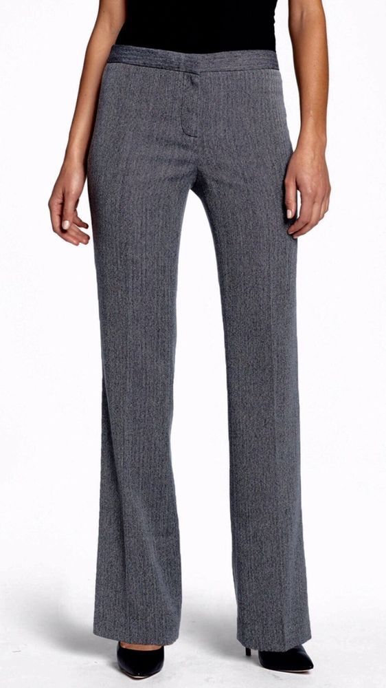 Anne Klein Gray With Black Women's Casual Pants Size 4 X 32 New! $99  | eBay
