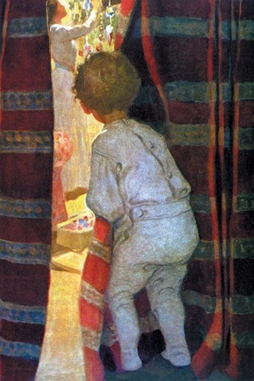 """""""Peeping Into The Parlor"""" - by Jessie Wilcox Smith"""