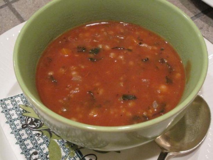 Crock Pot Vegetarian Minestrone Soup.